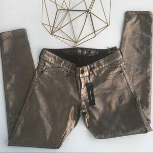 Express Shiny Skinny Pants